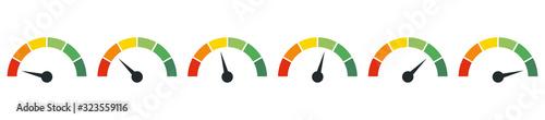 Fotografía Speedometer, tachometer, indicator icons
