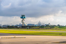 Air Traffic Control Tower Of Sydney Airport, Australia