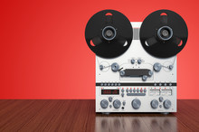 Retro Reel-to-reel Tape Record...
