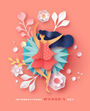 Women's Day Card Happy Papercu...