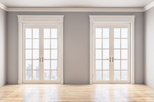 Two White Door In Classic Inte...