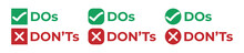 Do And Don't Or Good And Bad C...