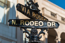 The Sign Of Rodeo Drive In Los...
