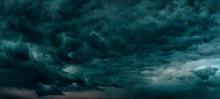 Dark Blue Sky Dramatic Panoram...