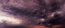 Dark Purple Sky Dramatic Panor...