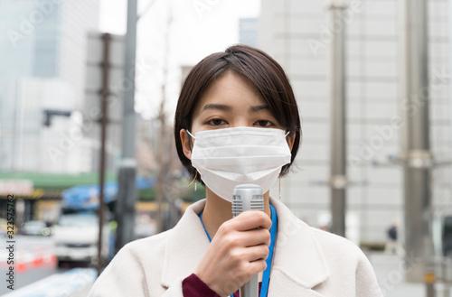 マスクのアナウンサー イメージ  Fototapet