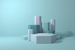 3d rendering background, minimal abstract geometric forms & scene