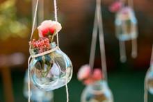Decoration Glass Jar With Flow...