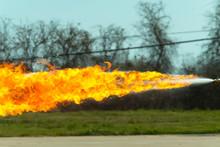 Flamethrower In Action. Flamet...