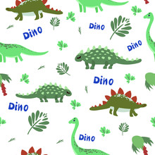 Funny Bright Dinosaurs Baby Pattern