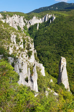 Vela Draga Canyon And Rocks In...