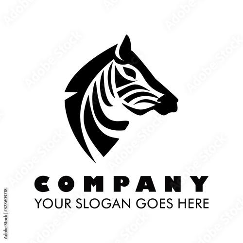 Photo Zebra art illustration logo vector
