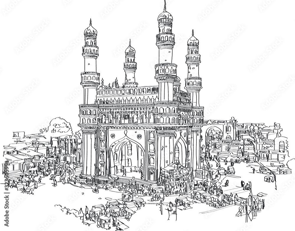 Fototapeta Hyderabad, Telangana state, India. Charmina