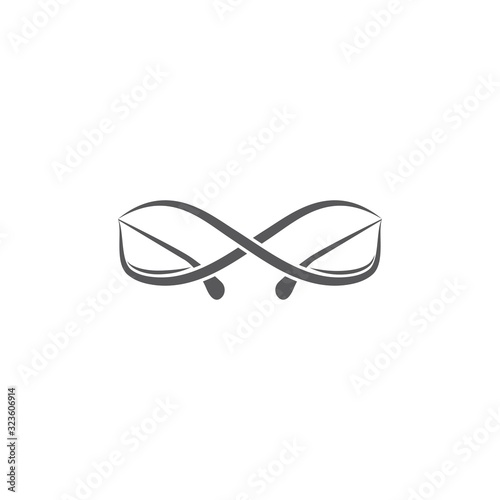 Glases icon Vector Illustration design Logo Fototapeta