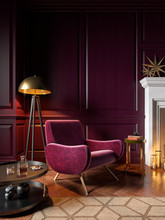 Classic Purple Interior With A...