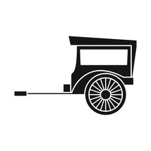 Vector Illustration Of Brougham And Old Logo. Web Element Of Brougham And Wagon Vector Icon For Stock.