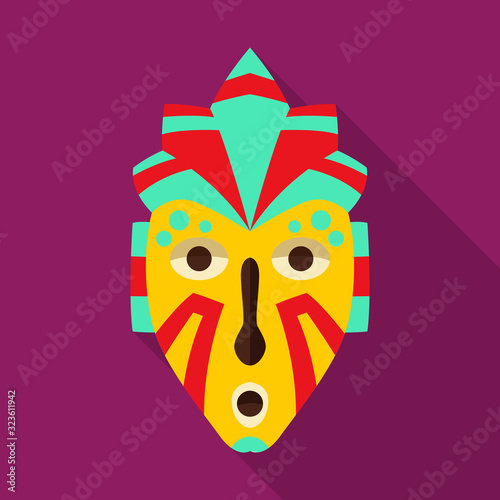 African mask vector icon Wallpaper Mural