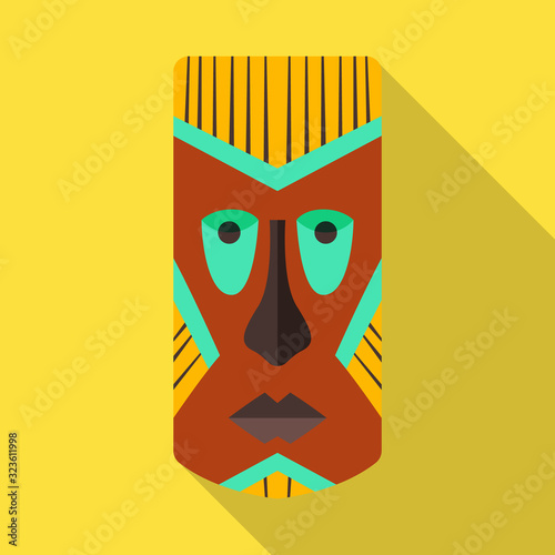 Photo Tribal african mask vector icon