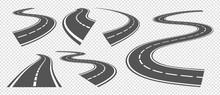 Bending Roads. Driving Asphalt...