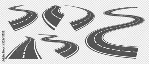 Fotografiet Bending roads