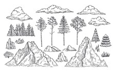 Nature Landscape Elements. Mou...