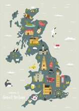 Vector Map Of Great Britain Wi...