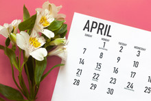 April Monthly Calendar With Fr...