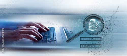 Obraz Data protection and cyber security concept - fototapety do salonu