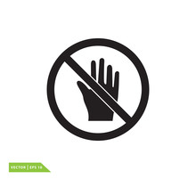 Do Not Touch Icon Sign Vector ...