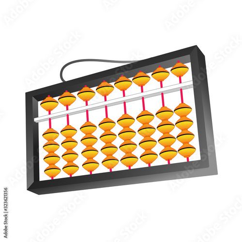 Photo Teacher abacus for school. Mental arithmetic.