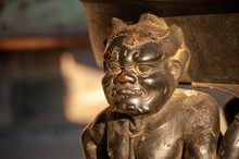 Statue Of Devil In A Japanese ...