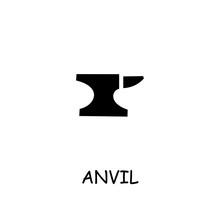 Anvil Flat Vector Icon