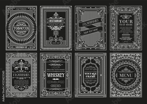 Fotomural Vintage set retro cards