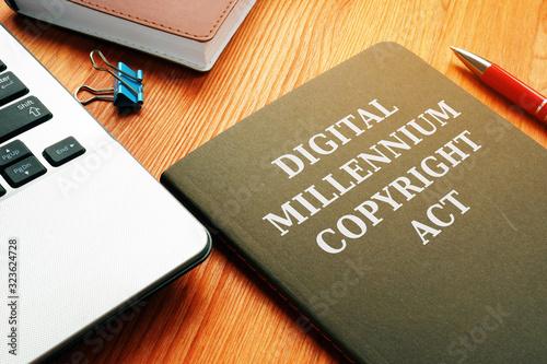 DMCA Digital Millennium Copyright Act and laptop. Canvas Print