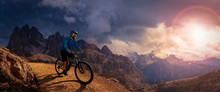 Cycling Outdoor Adventure. Man...