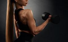 Crop Of Pumped Fitnesswoman Tr...
