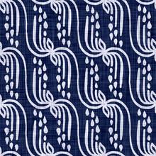 Indigo Blue Woven Boro Cotton Dyed Effect Texture Background. Seamless Japanese Repeat Batik Resist Pattern. Block Print Motif Distress Dye Bleach.  All Over Kimono Textile. Worn Wabi Sabi Cloth Print