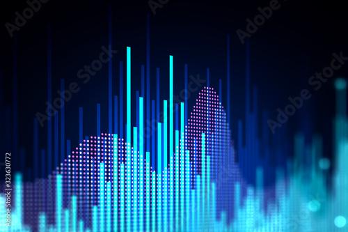 Fotografía Financial forecast chart analyzing