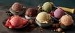 Leinwandbild Motiv Gourmet summer dessert of artisanal ice cream