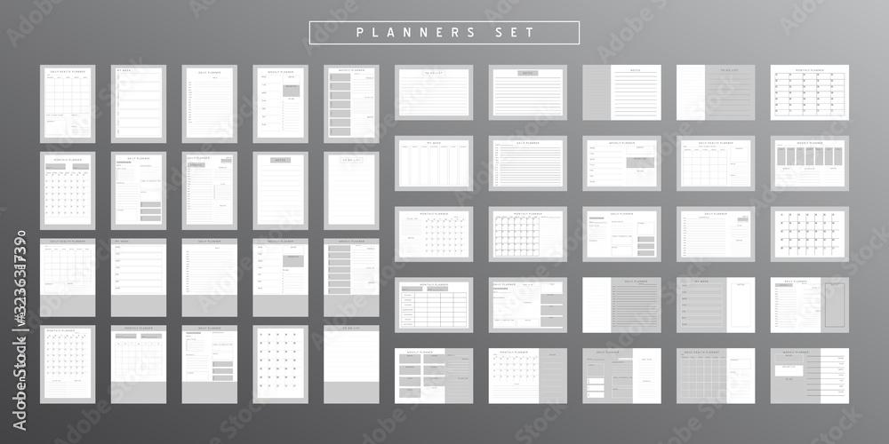 Fototapeta Planner sheet vector