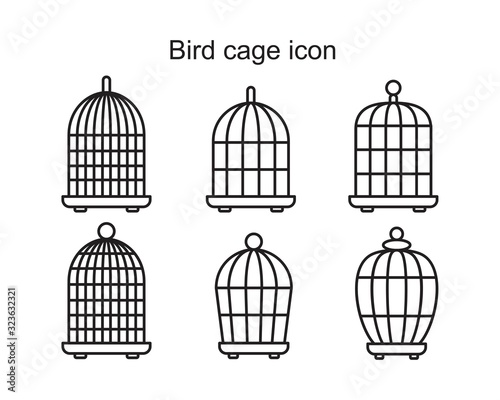 Fototapeta Bird cage icon template black color editable