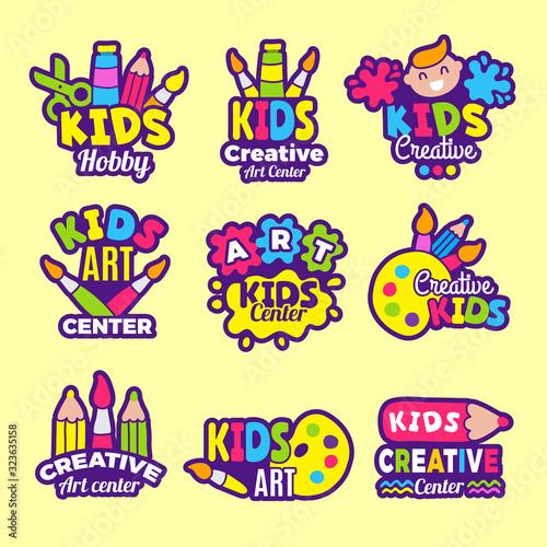 Slika na platnu Creativity kids logo