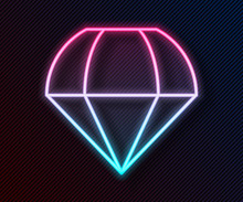 Glowing Neon Line Parachute Ic...