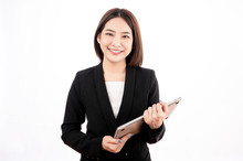 Asian Businesswoman With Black...