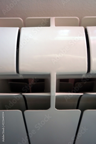 Photo White aluminum radiator