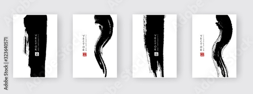 Valokuvatapetti Banners with abstract black ink. eps10 vector illustration