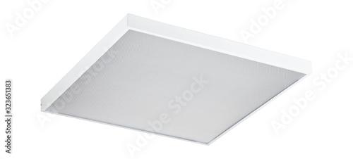 Fototapeta Office ceiling led lamp isolated on white background obraz