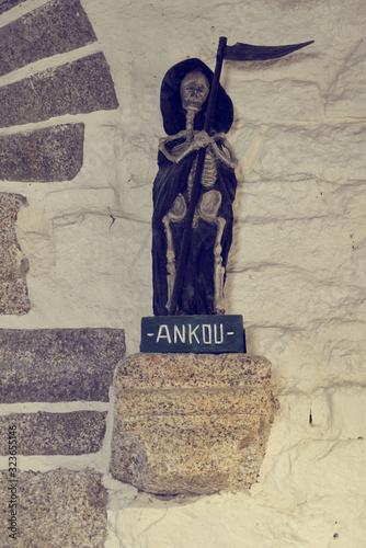 MYthologie bretonne , personnage de légende nommé ankou . Canvas Print