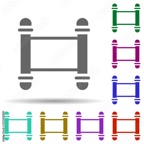Torah in multi color style icon Billede på lærred