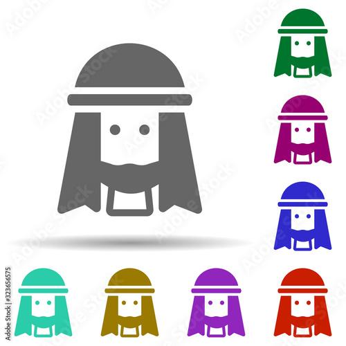Fényképezés Muslim man in multi color style icon